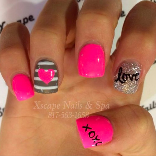 22 Best Valentine's Day Nail Designs for 2018 - 22 Best Valentine's Day Nail Designs For 2018 - Nail Art HQ