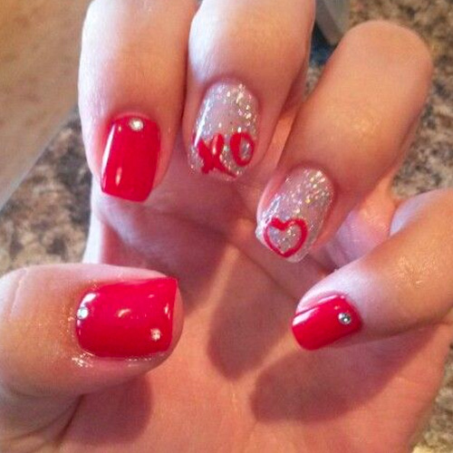 Best Valentine's Day Nails for 2018 – 44 Heartwarming Nail Designs - Best Valentine's Day Nails For 2018 - 44 Heartwarming Nail Designs