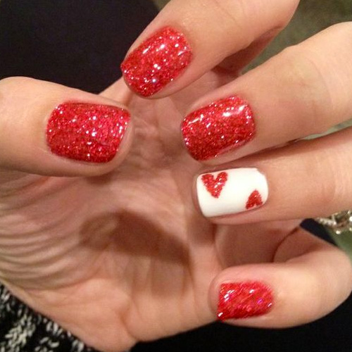 17 Red Hot Valentine S Day Nails For 2019 Nailarthq Com
